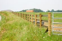 log cabin fence company fence types